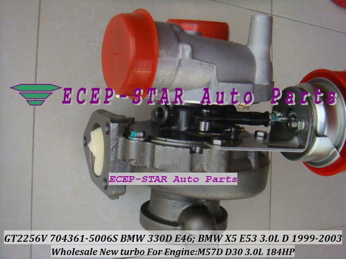 GT2256V 704361-5006S TURBINE Turbo Fit For bmw 330D E46 X5 3.0D E53,EngineM57D D30 3.0L 184HP 1999-2003 Turbocharger (2)