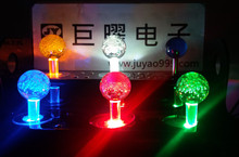 5V single color lighted Illuminated joystick with crystal bobble top ball and microswitch for game machine