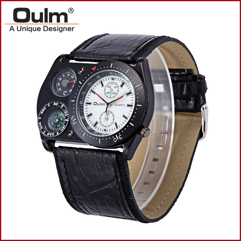 mens polshorloges oulm merk directe fabriek prijs pc21 quartz one - Herenhorloges - Foto 6