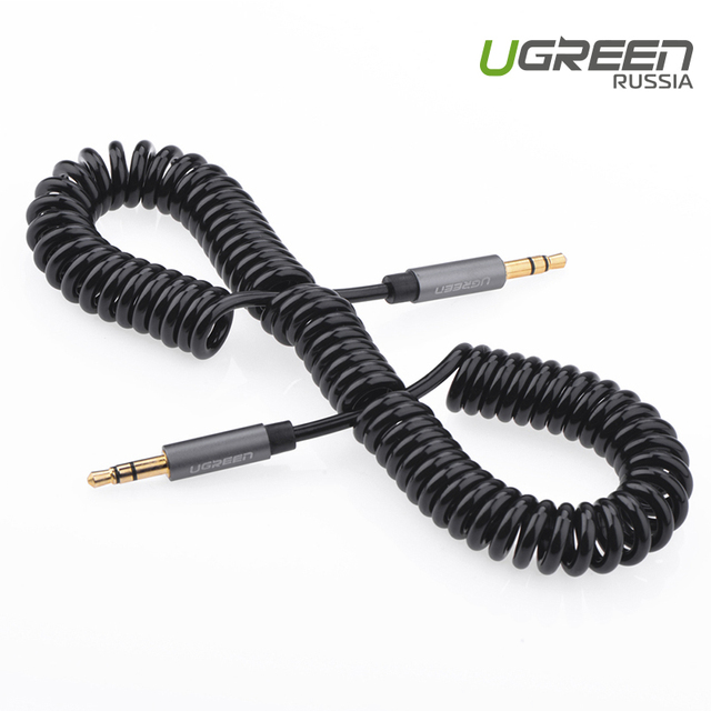 Ugreen Luxury jack 3.5 Male to Male 3.5mm Audio Aux coiled Cable For iPhone 6 5S For Samsung Galaxy S6 for headphones beats