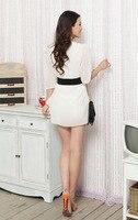 м-XXXL большой размер шифон широкий свободного покроя длиной до колен платье белый и черный мода платья с длинным рукавом для женщин бесплатная доставка