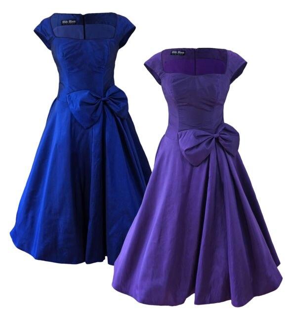 Purple Rockabilly Swing Dress