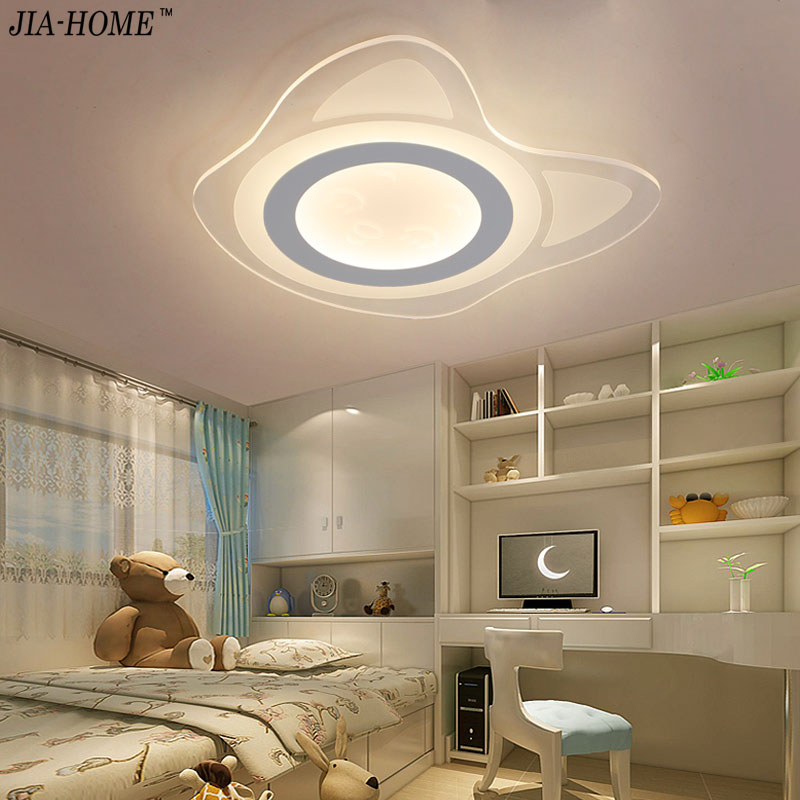 Child Ceiling light for bedroom lamps Ultra-thin acrylic cats indoor lighting led luminaria abajur with switch or dimmer light vemma acrylic minimalist modern led ceiling lamps kitchen bathroom bedroom balcony corridor lamp lighting study