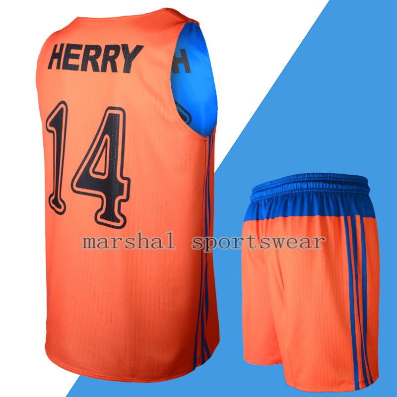 MOQ 5pcs professional custom sleeveless O neck Men s Reversible Basketball Jerseys