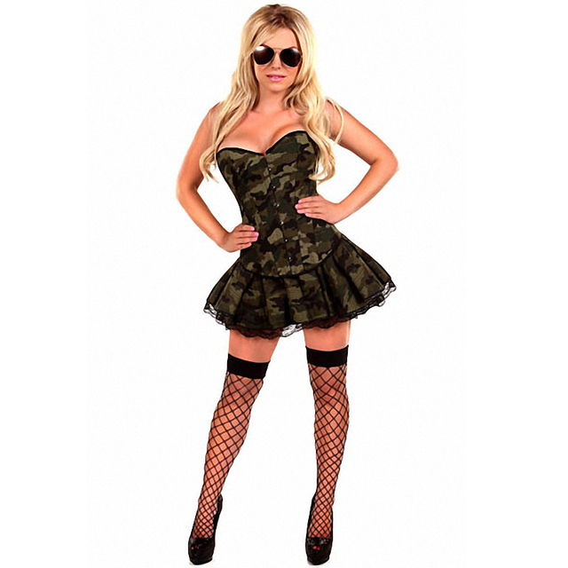 1e07274c03b31 Girl Camouflage Military Soldier Uniform Corsets Dresses Women 3 Piece Sexy  Army Girl Costume Sc 1 St AliExpress.com