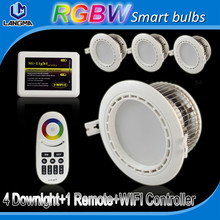mi.light series 2.4g rgb rgbw rgbww wifi led downlight color changing smartphone controlled dimmable led down light 12w