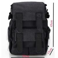 Waterproof Canvas Men Women Camera Bag Backpacks Gray Photo Video Carry Case Digital Camera Case For
