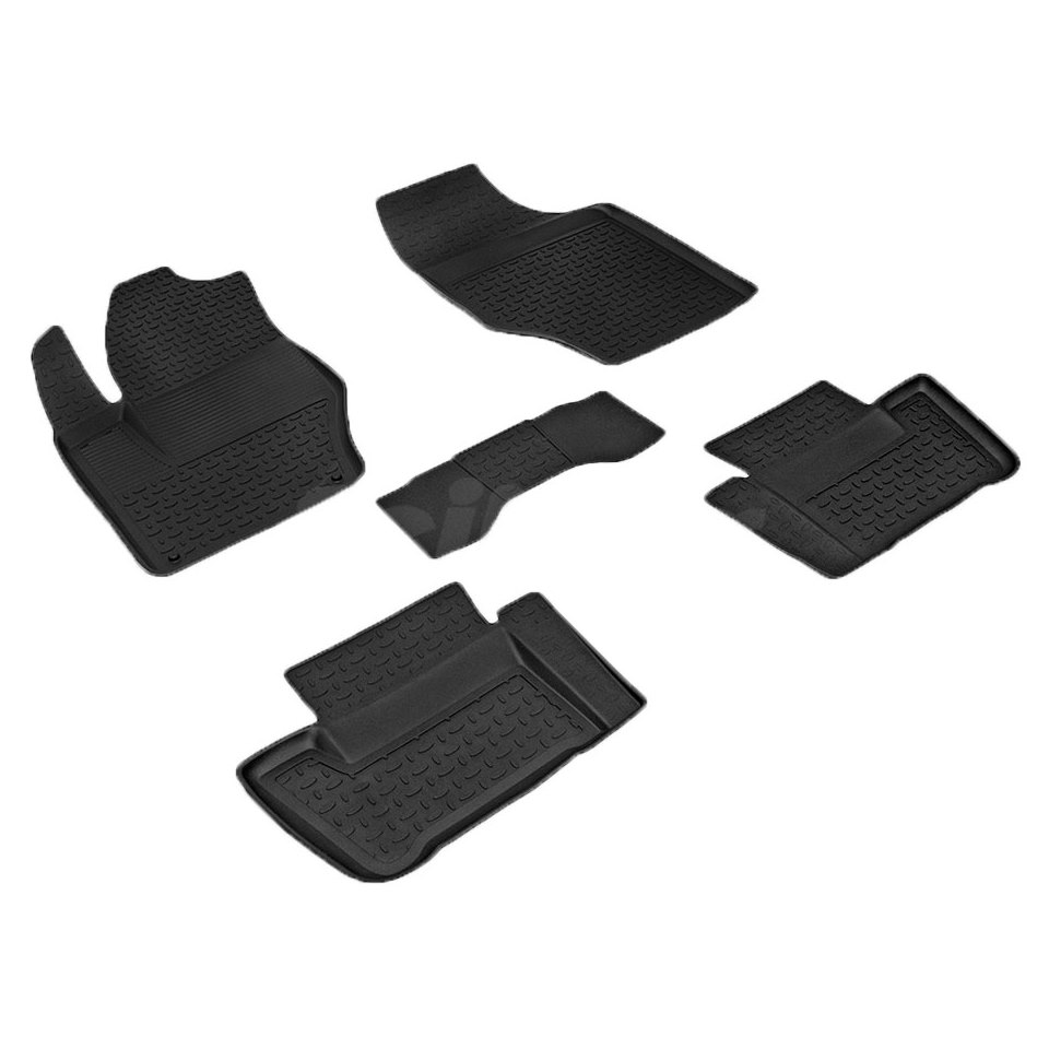 лучшая цена For Peugeot 408 2012-2019 rubber floor mats into saloon 5 pcs/set Seintex 83750