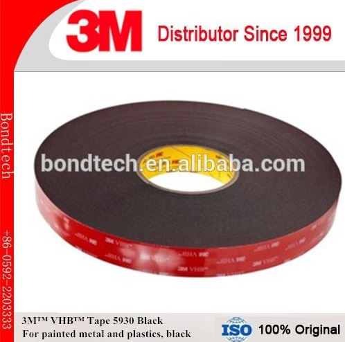 3M VHB Tape/3M 5930 VHB Double Sided Tape, Black, 0.8mm,12.7mmX33M ,1roll /pack 3m vhb tape 4926 gray 45mil 1inx36yd pack of 1