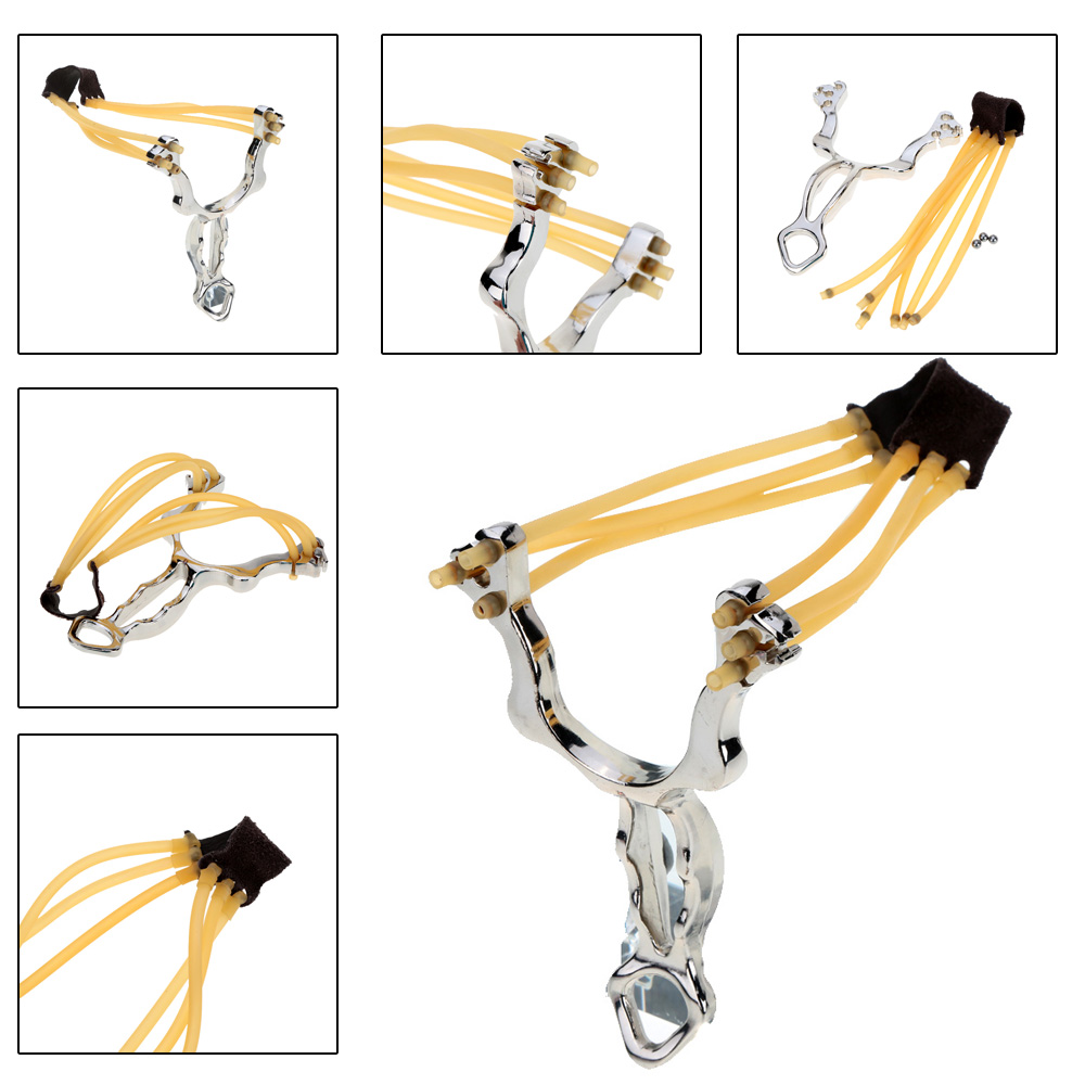 Outdoor Aluminum Alloy Multifunction Wrist Brace Slingshot Catapult with Flashlight Clip Hunting Competition Game Tool Accessory