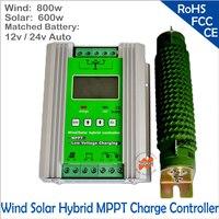 1400 w MPPT Солнечный ветер гибридный усилитель контроллера заряда, 12/24 V Авто Применить для 800 W 600 w ветер + 600 W 400 W солнечной со сбросом нагрузки.