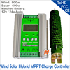 New Arrival 1400w 12 24V Off Grid MPPT Solar Wind Hybrid Boost Charge Controller For Home