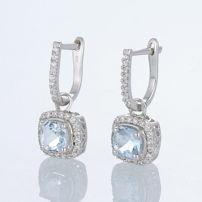 Silver EarringsE301120BKZSL925-SV3-W