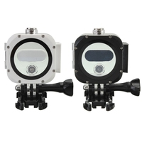 High Transparent 60m Waterproof Protective Housing Case Frame Cover With Base For GoPro Hero Session 4