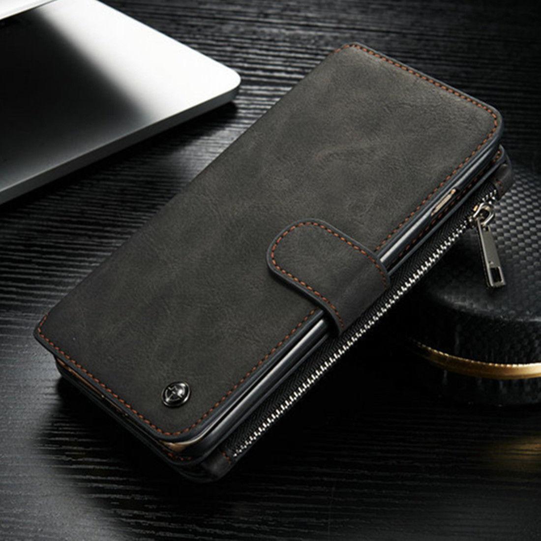 finest selection dba0e 50991 Flip Zipper Men Purse Wallet Leather Luxury Case For iPhone 5s SE 6 6s 7  Plus Card Slot Holder Bag Cover For Samsung S6 S7 Edge