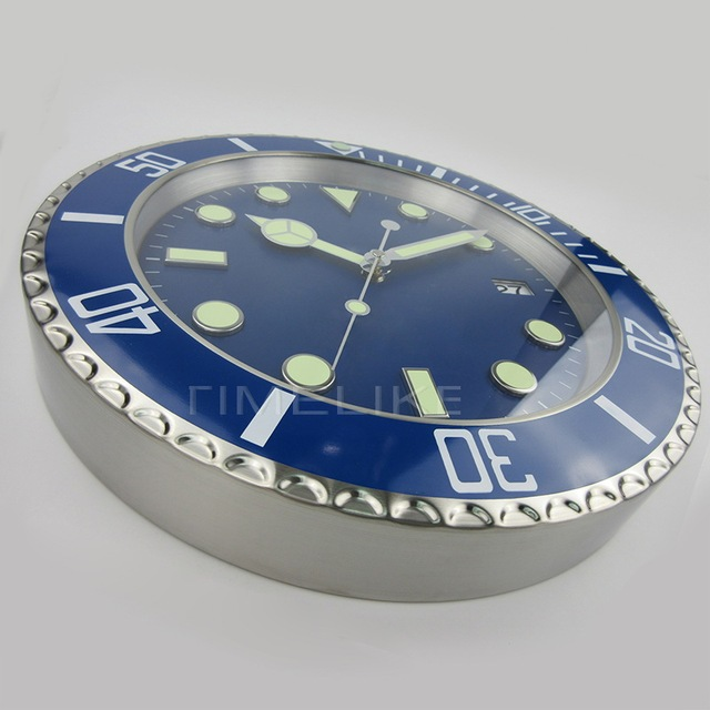 1piece Free Shipping High Quality Luxury Watch Wall Clock  with Silent Mechanism