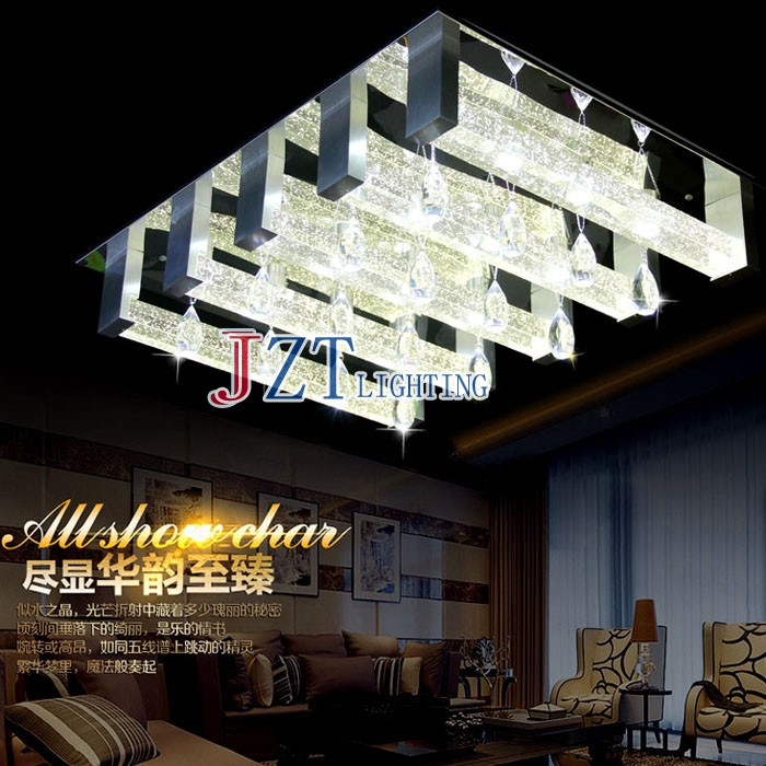 M Square LED Crystal Light Ceiling Lighting Fixture Surface Mounted Crystal LED Lamp for Hallway Aisle Corridor Fast Shipping