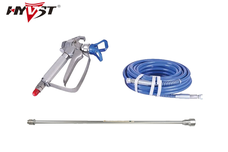 Professional airless sprayer spare parts 15m high pressure hose, 20cm extend pole, sprayer gun with 517 tip