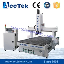 4 axis 3d cnc woodworking machine AKM1325 wood working high speed 3d cnc router