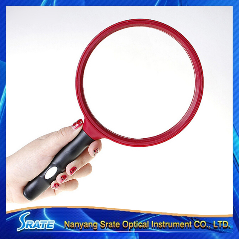 3X 130mm Large Lens Magnifier Anti-Slip Handle Magnifying Glass for Reading 3x magnifying magnifier