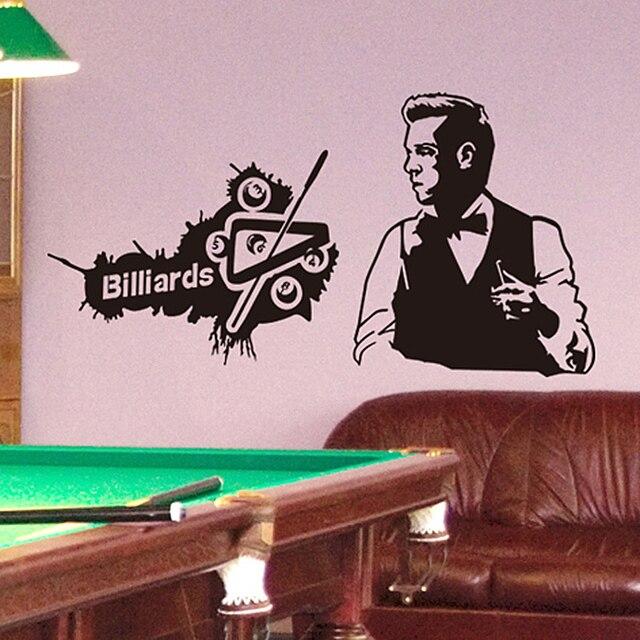 Shijuehezi] Personnalisé Billard Beau Homme Stickers Muraux Pvc
