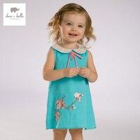 DB3356 Dave Bella Summer Baby Girl Princess Dress Baby Wedding Dress Kids Birthday Clothes Dress