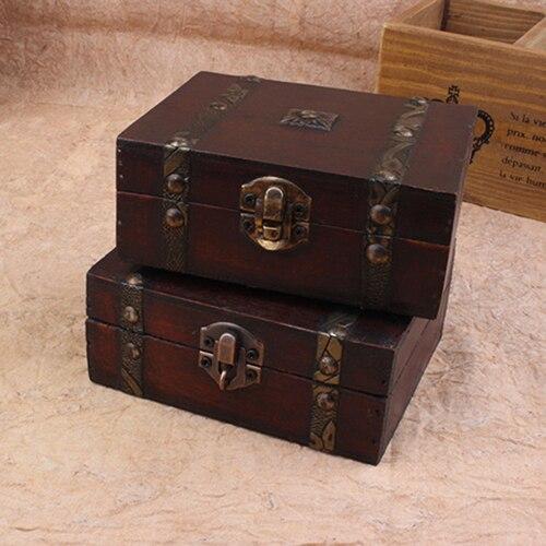 Bluelans Vintage Jewelry Earrings Necklace Bracelet Storage Organizer Wooden Case Gift Box