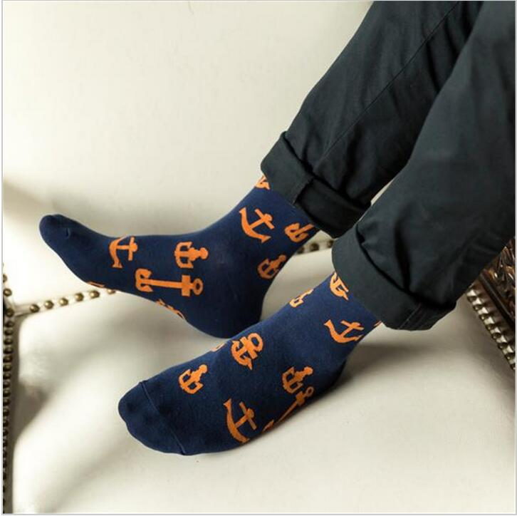 2018 New men socks taste anchor in male socks in autumn and winter cotton socks ...