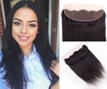 High Quality Brazilian Hair Lace Lrontal 13*4 Bleached Knots Full Straight Lace Frontal Closure Ear To Ear With Baby Hair Around