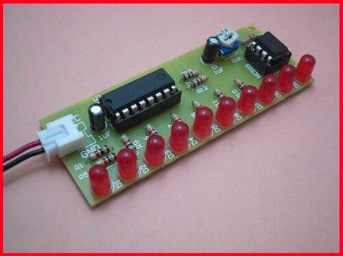 Free Shipping!!! 5pcs NE555 + CD4017 water lamp / DIY electronic parts