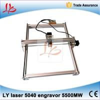 Russia No Tax LY 5040 5500MW Mini DIY Laser Engraver IC Marking Printer Laser Cutter Blue