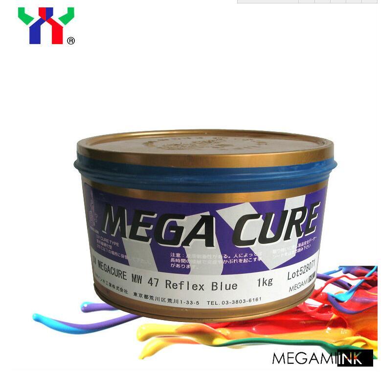 CNB-2series for cigarette case,MOQ1kg,1kgcan,MW Reflex Blue for poster,JAPAN MEGAMI MEGACURE UV offset printing Ink