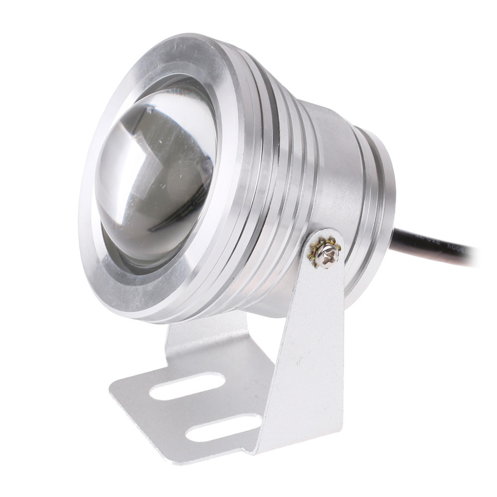 LED Underwater Light IP68 Dc-12V 15W Fountain Spotlight LED Lamp Silver Body Red/ Bule/Green
