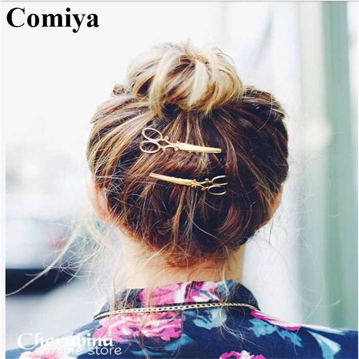 2018 gold/silver plated hairgrips scissor accessories bijoux de tete bohemian acessorio para cabelo hair accessories barrettes