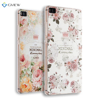 Super 3D Relief Printing Clear Soft TPU Case For Huawei P8 5 2 Inch Phone Back