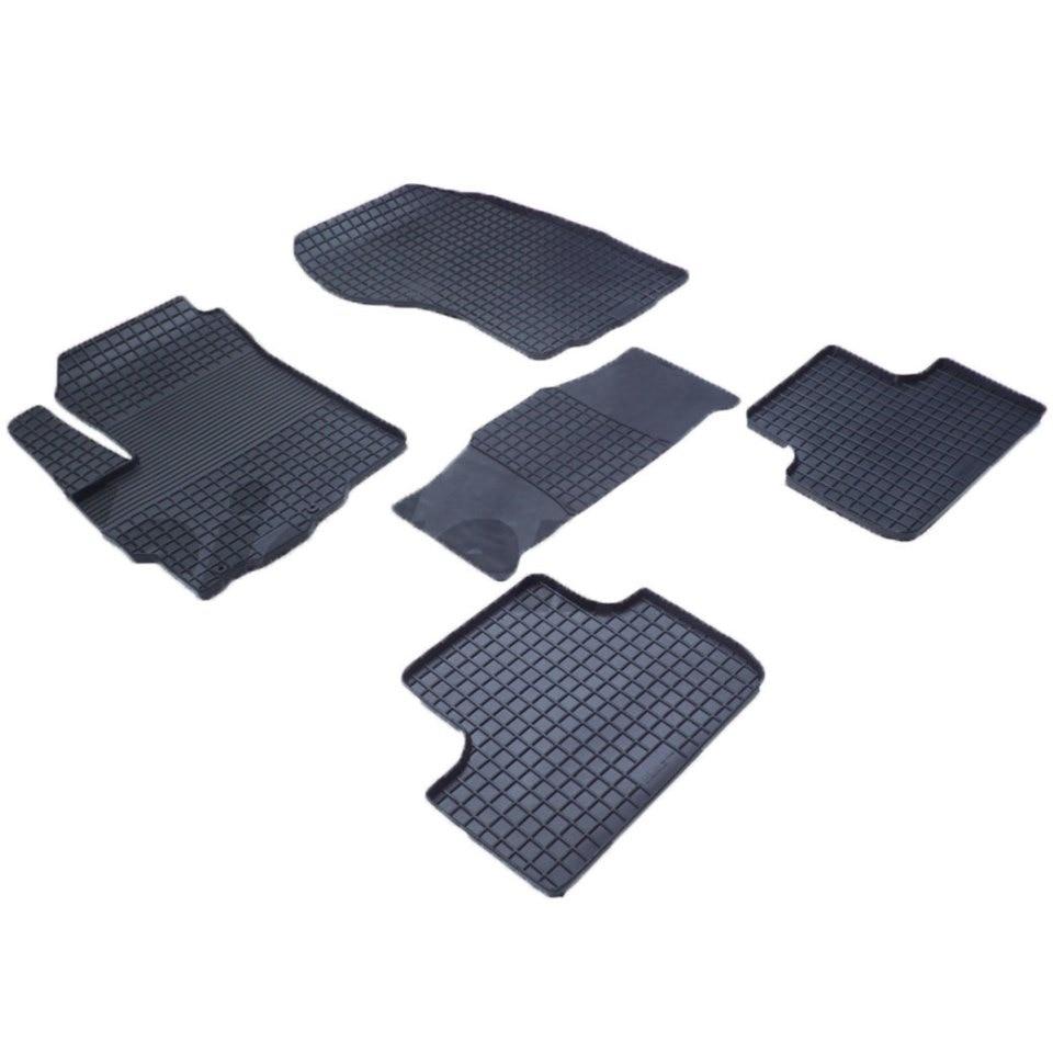 Rubber grid floor mats for Citroen C4 Aircross 2012 2013 2014 2015 2016 2017 Seintex 82889 дефлекторы на окна voron glass samurai citroen c4 aircross 2012 н в комплект 4шт деф00318