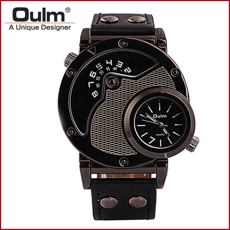 Luxury Watches Men Brand Oulm 9591 Japan Quartz Movement Military Army Wristwatches Male Relojes Hombre men quartz watches new fashion sport oulm japan double movement square dial compass function military cool stylish watch relojio