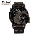 Luxury Watches Men Brand Oulm 9591 Japan Quartz Movement Military Army Wristwatches Male Relojes Hombre