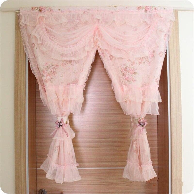Rideau dentelle romantique elegant crochet rideaux long for Rideaux chambre romantique