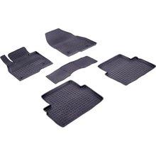 Резиновые коврики для Mazda 3 BM (2013-2018) с высокими бортиками (Seintex 85085)