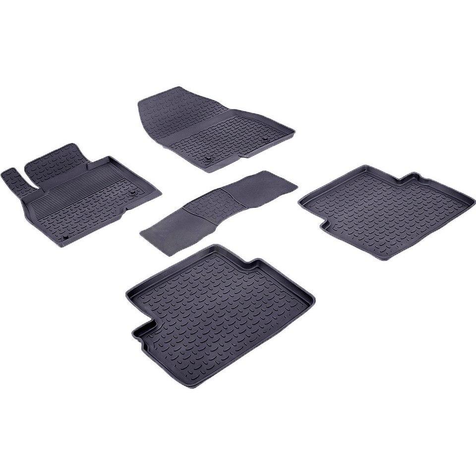 Rubber floor mats for Mazda 3 BM 2013 2014 2015 2016 2017 2018 Seintex 85085 seintex 1322 для mazda 3
