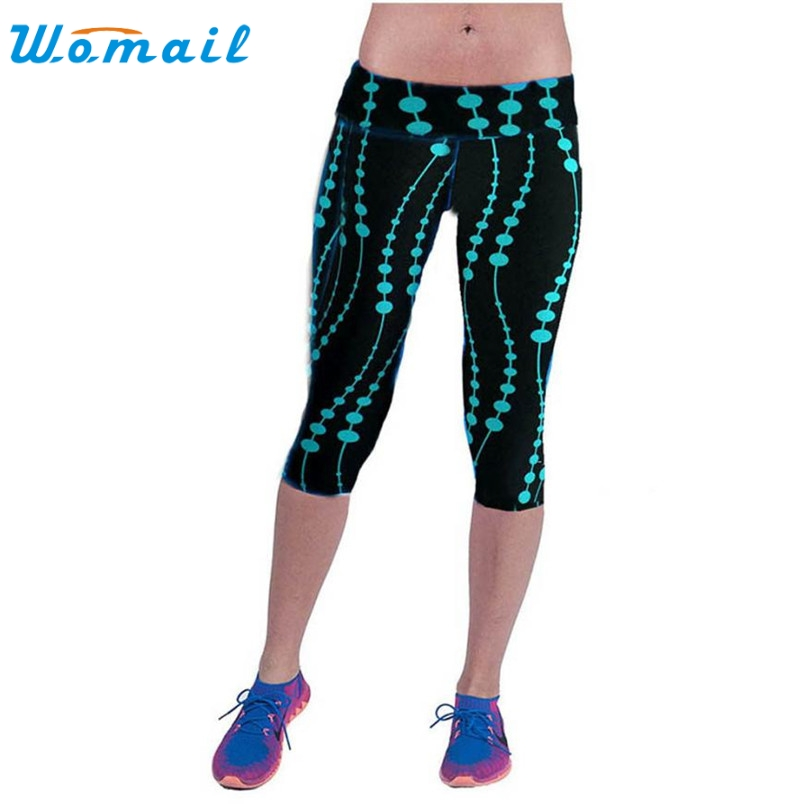 2016 Women American Football Pattern 3d Leggings Stretch: Durable 2016 Fashion Leggings Women High Waist Workout