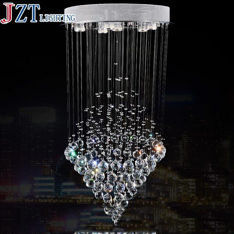 M Hot Sale LED Crystal Chandeliers Conic Pendant White Hanging Laparas de LED Luxury Crystal Lighting Banquet Lighting Fixture|light fixtures|pendant crystal chandelier|white light fixture - title=