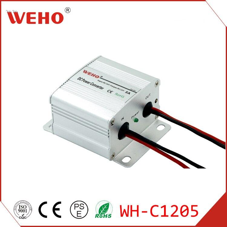 (WH-C1205)ce rohs Утвержденный 60w Преобразователь мощности 24v dc на 12v dc 5a dc/dc преобразователь