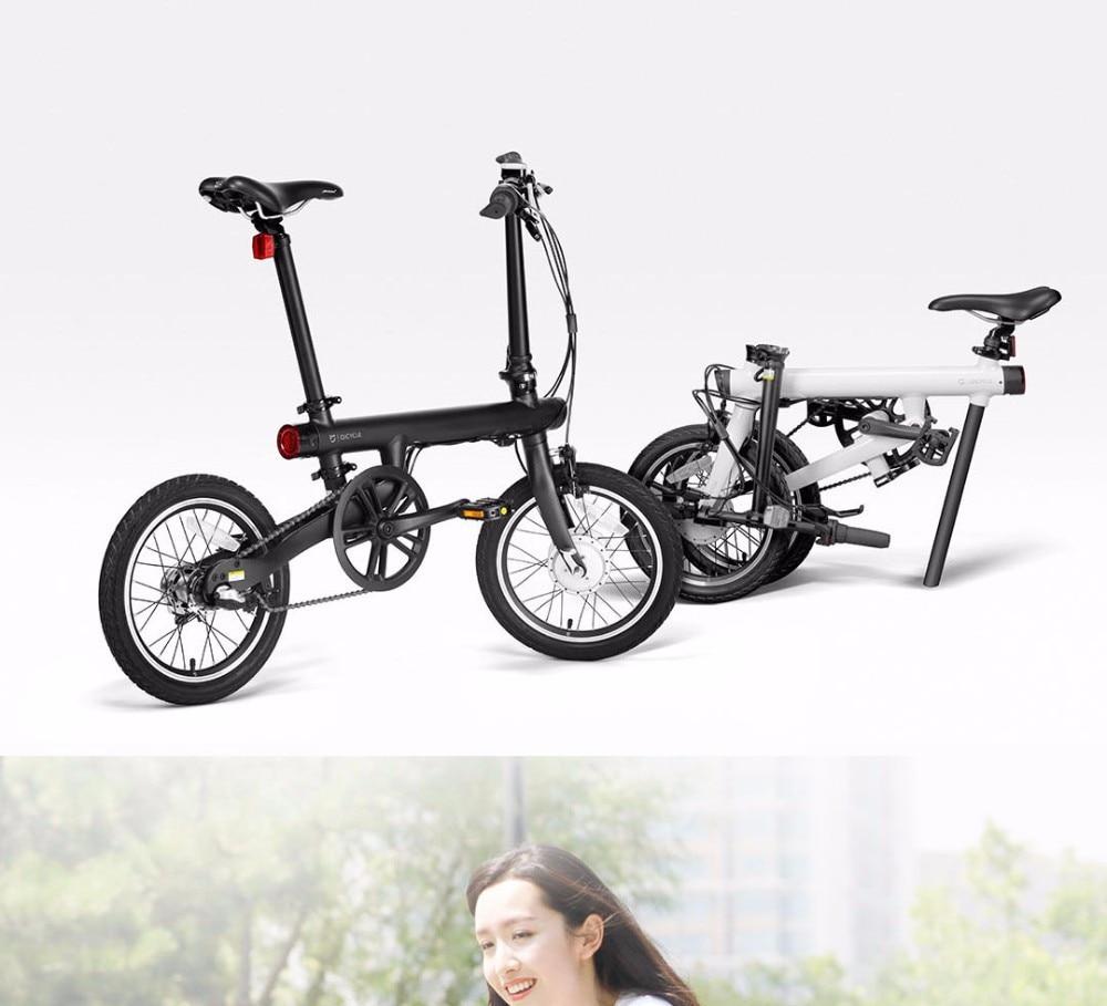UT8x52bXYRXXXagOFbXK - Unique model Mi Qicycle 20KM/H Foldable Bluetooth 4.zero Telephone APP Monitor sensible Electrical Bicycle With 1.8'' Display bike