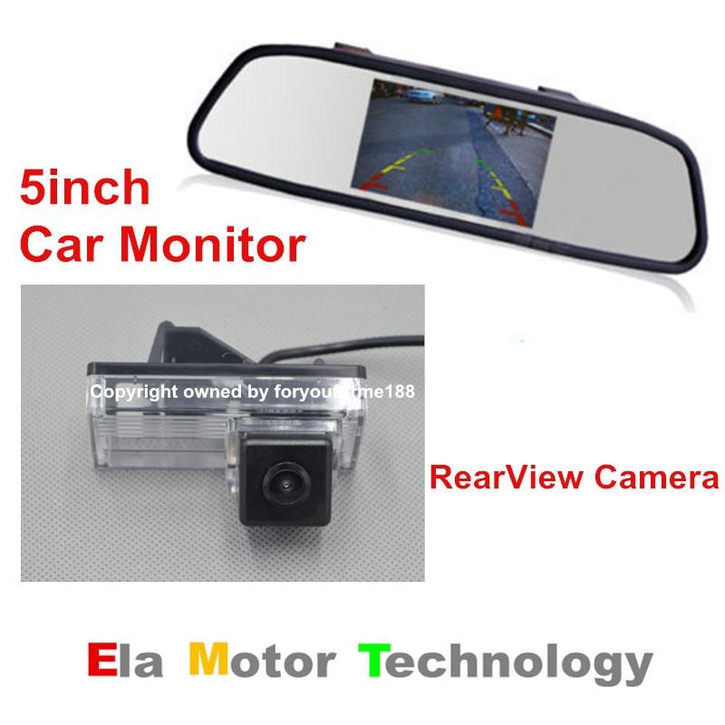 Heerlijk 5 ''tft Lcd-scherm Auto Monitor Spiegel + Nachtzicht Auto Reverse Parking Camera Voor Toyota Land Cruiser Lc 100 Lc100 1998 ~ 2007