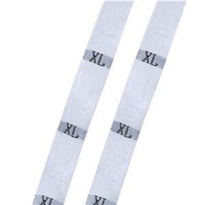 """DoreenBeads размер этикетки одежда тканые бирки XS-2XL белый черный 32 мм(1 2/"""") x 12 мм(4/8"""") 1 рулон(около 400 шт - Цвет: white XL"""