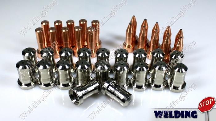 PT-23 PT-27 Plasma 30A Tip Nozzle 33368 Electrode 33366XL Qty-60