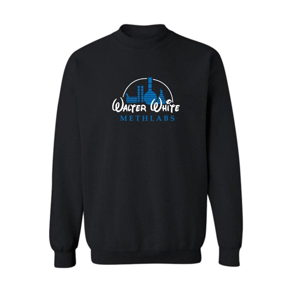 Новый мет Maker Уолтер Уайт Для мужчин S Толстовки и кофты 3XL с рок-н-ролл Толстовки Для мужчин логотип бренда черный /серый