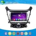 2014 Hyundai Elantra Android 4.4.4 DVD Плеер Радио Система Навигации GPS Bluetooth HD 1024*600 сенсорным дисплеем OBD2 DVR заднего вида камеры IPOD Управление рулевого колеса USB SD Четырехъядерный CPU Зеркальная Связь